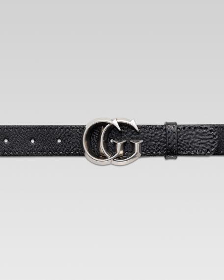 GG Buckle Belt, Black