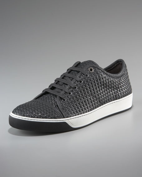 Woven Leather Sneaker
