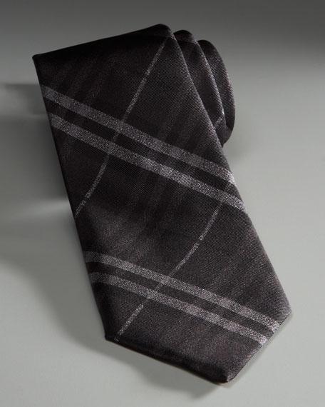 Check Tie, Black