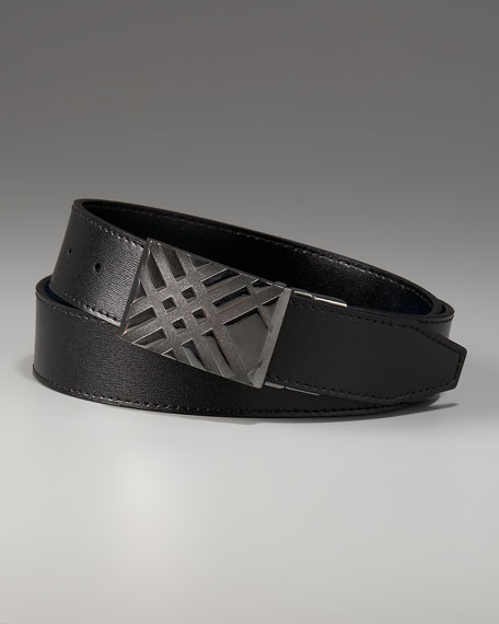 Check-Buckle Belt