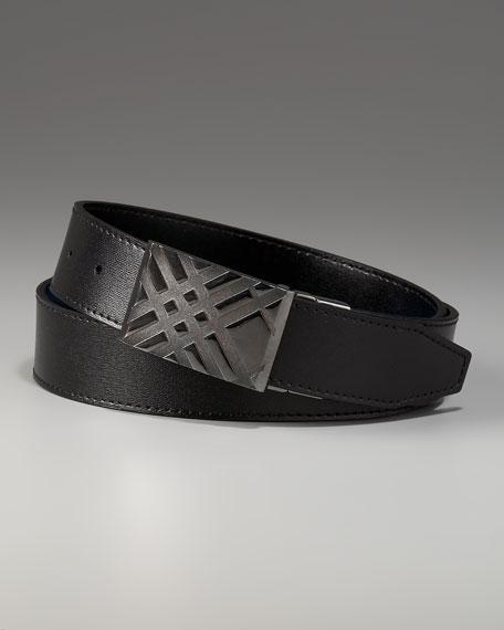 Check-Buckle Belt