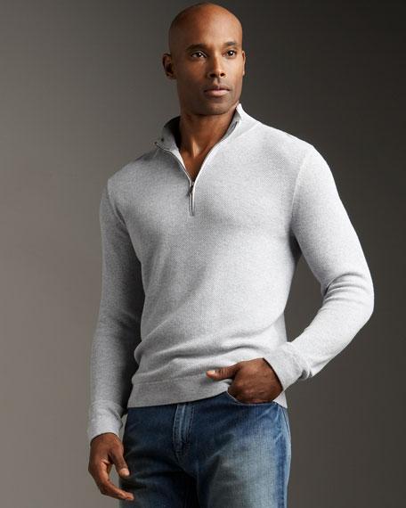 Zip-Sweater, Gray