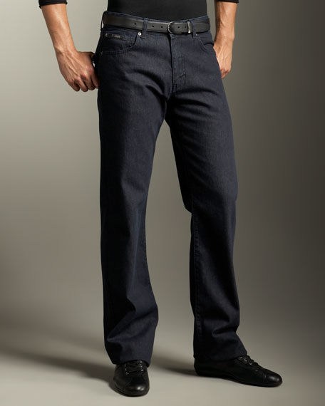Straight-Leg Jeans, Dark Blue
