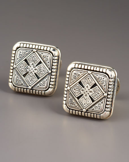 Etched Cross Cuff Links