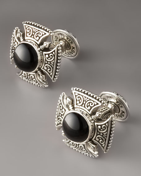 Black Onyx Cross Cuff Links