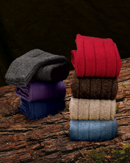 Two-Pairs of Cashmere-Blend Socks
