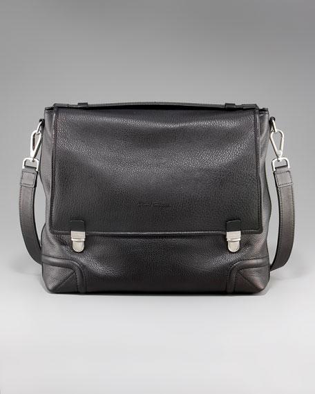 Deerskin Shoulder-Strap Briefcase