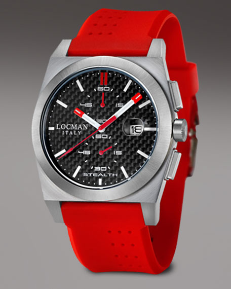 Stealth Chronograph, Red-Black