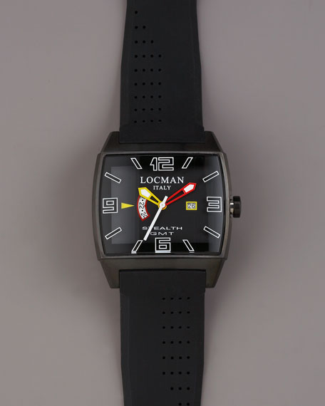 Square Stealth Watch, Black
