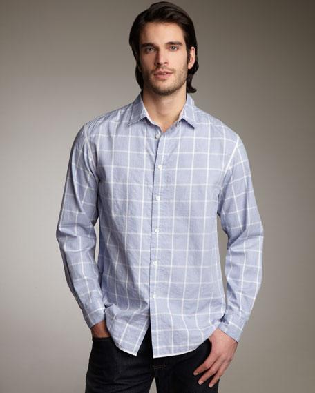 Julian Fine-Check Woven Shirt