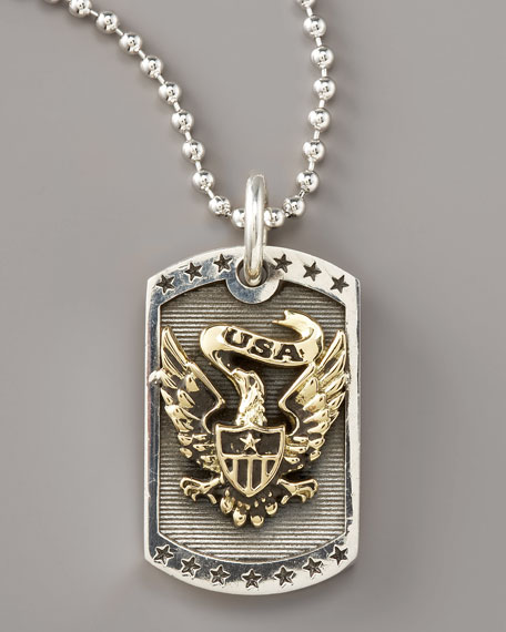 Eagle Dog Tag Necklace