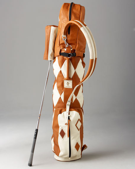 Harlequin Golf Bag, Tan