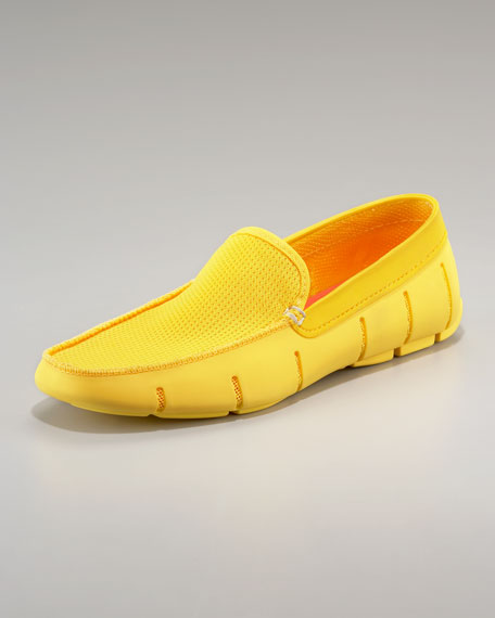 Flat-Front Rubber Loafer, Yellow