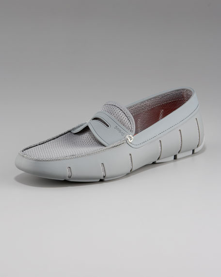Rubber Penny Loafer, Gray