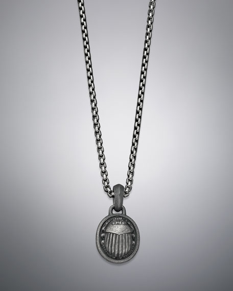 Petrvs Necklace, Scarab, 22""