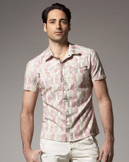 Paisley-Print Woven Shirt