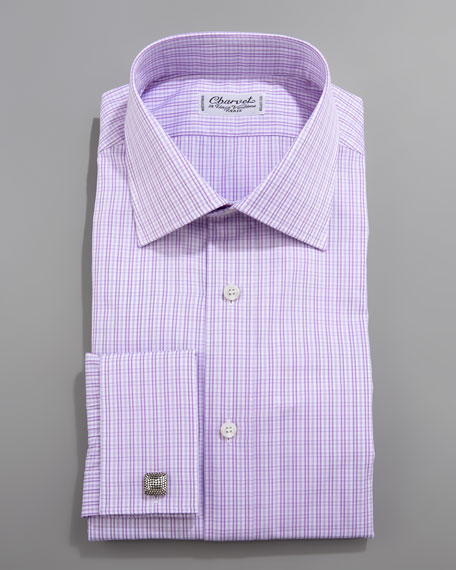 Check French-Cuff Dress Shirt