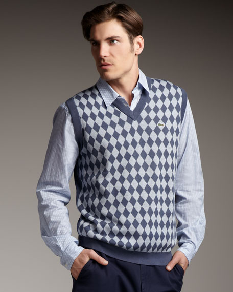Diamond-Pattern Sweater Vest