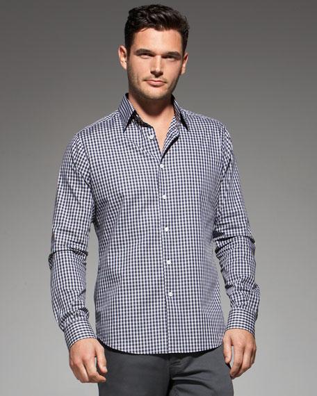 Small-Check Long-Sleeve Shirt