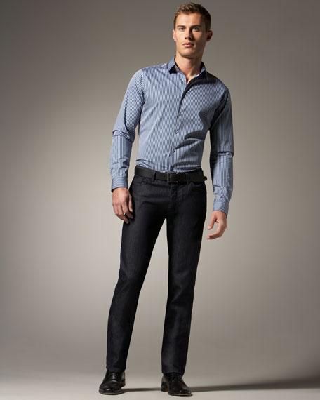 Clean-Wash Denim Pants
