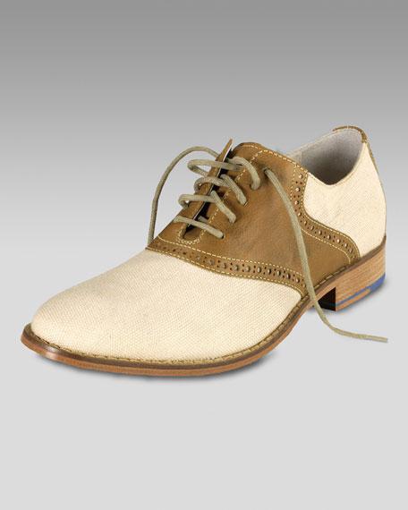 Air Colton Saddle Oxford, Cream/Brown