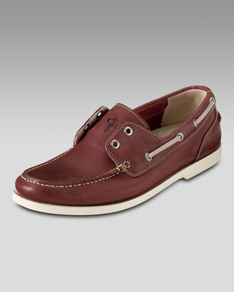 Air Yacht Club Boat Shoe, Red