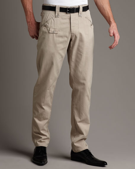 Button-Pocket Trousers