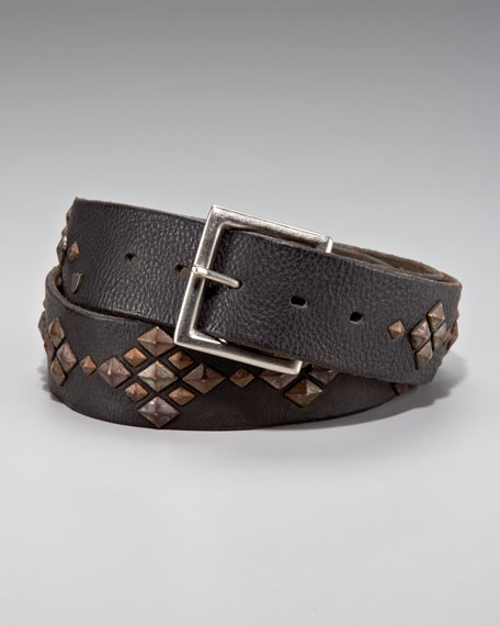 Abstract Studded Belt