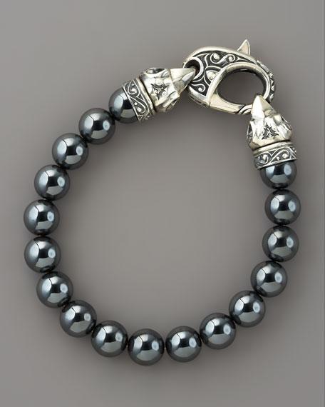 10mm Hematite Bead Bracelet