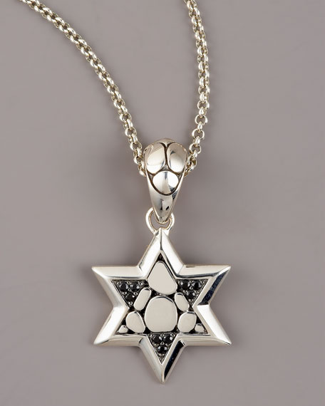 Kali Black Sapphire Star of David Pendant Necklace
