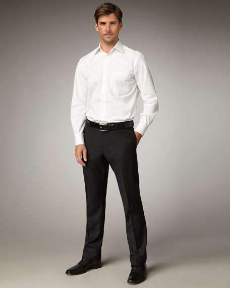 Flat-Front Slim Trousers
