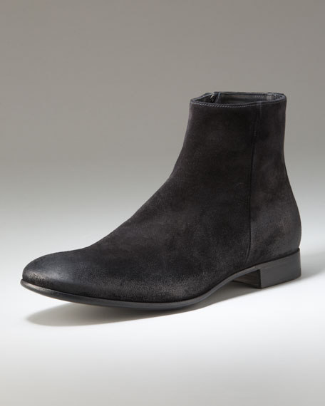 Brushed-Suede Boot