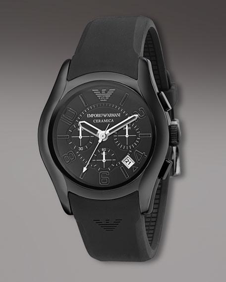 Ceramica Chronograph Watch, Black