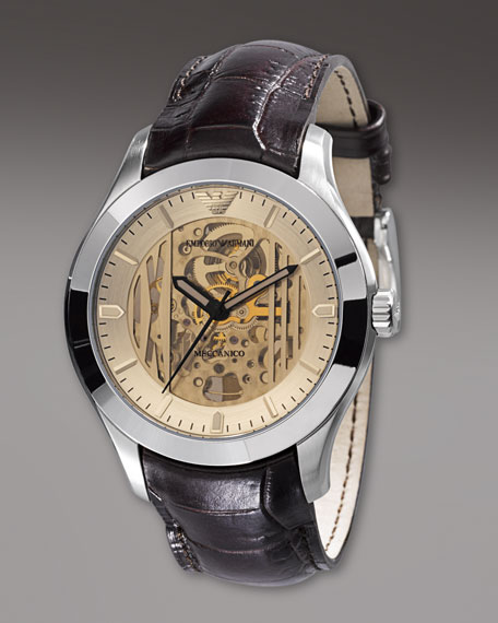 Meccanico Automatic Watch, Brown