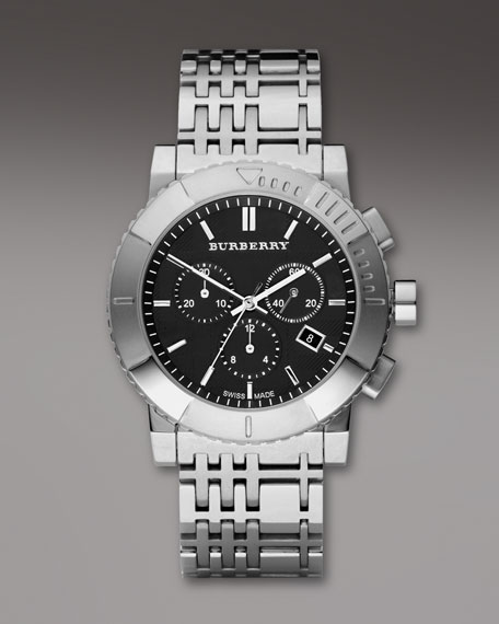 Classic Chronograph Watch, Black