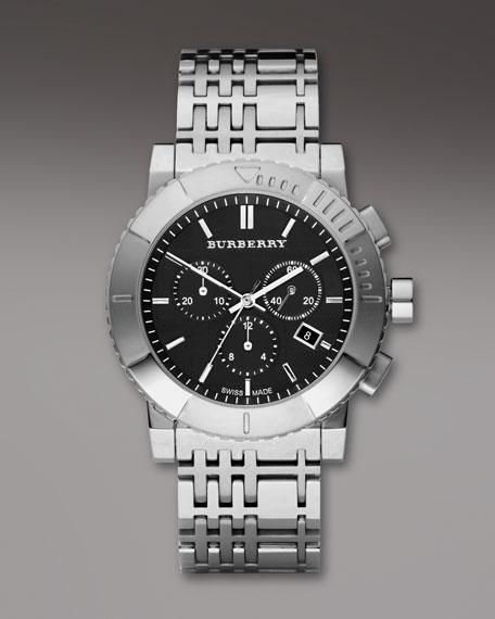 Classic Chronograph Watch, Black