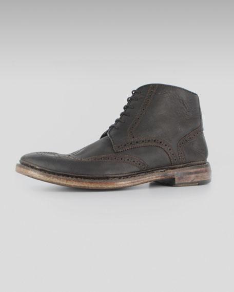 Broken-In Brogue Boot, Brown