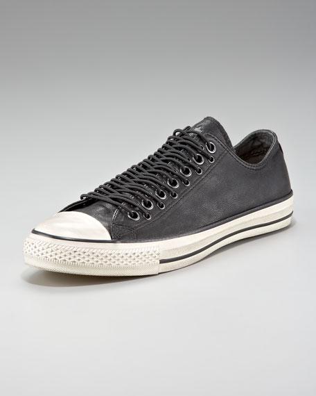 Multi-Eye Leather Sneaker