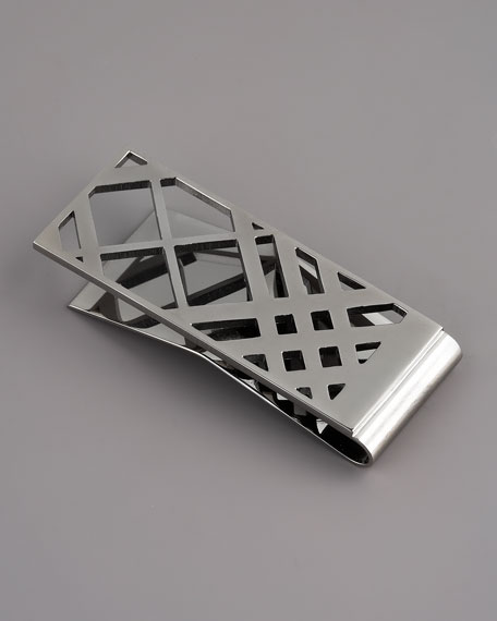Cage-Check Money Clip