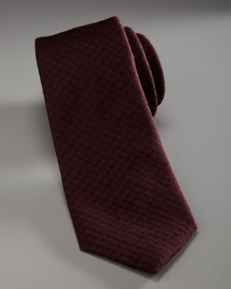 Skinny Knit Tie, Burgundy