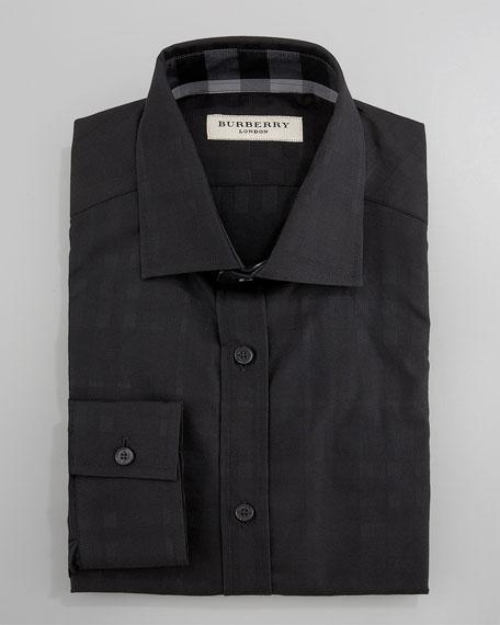 Check Dress Shirt, Black