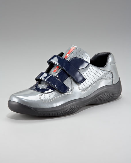 Manhattan Patent Sneaker, Gray