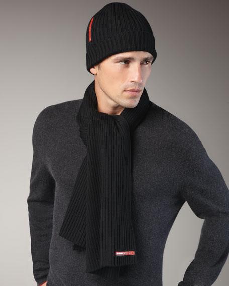 Knit Scarf, Black