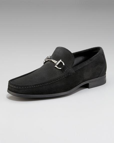 Magnifico Suede Bit Loafer, Black