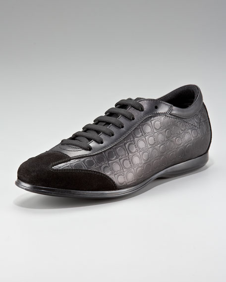 Falkland Leather Sneaker, Black