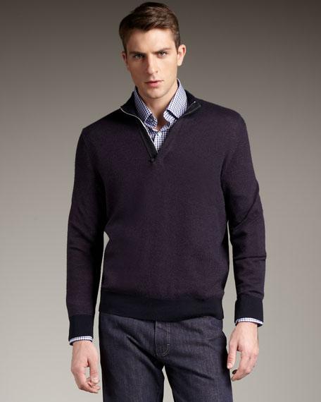 Bird's Eye Sweater, Purple