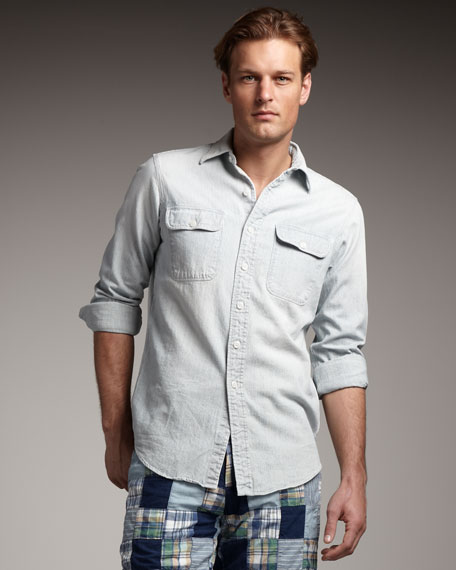 Fine-Stripe Shirt