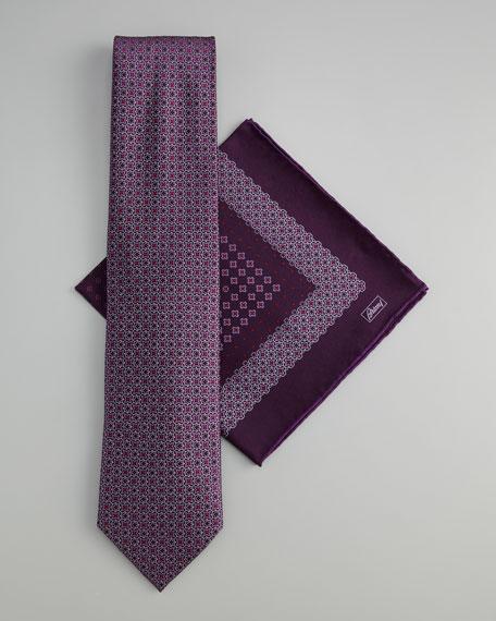 Medallion Tie & Pocket Square Set