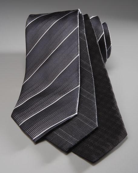 Tonal Squares Tie, Black