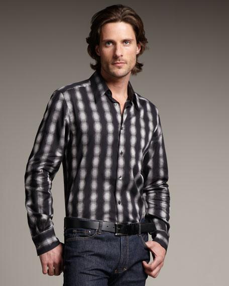 Ombre-Stripe Woven Shirt